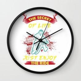 Motocross Secret Of Life Enjoy The Ride Wall Clock