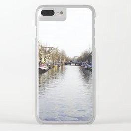 Winter in Amsterdam Clear iPhone Case