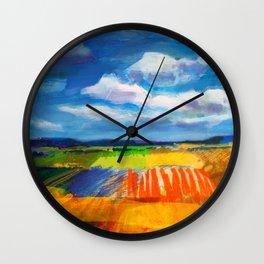 Clouds & Fields Wall Clock