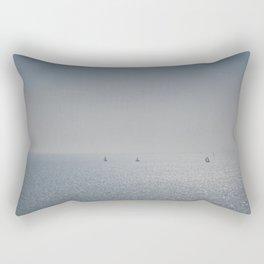 Distant Yachts  Rectangular Pillow