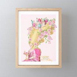 Marie Antoinette, High hair, tea party coiffure Framed Mini Art Print