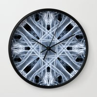 snowflake Wall Clocks featuring Snowflake by Steve Purnell