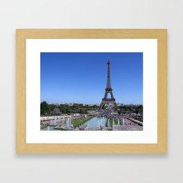 Eiffel Tower in Paris Framed Art Print