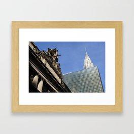 Old vs New - NYC Framed Art Print