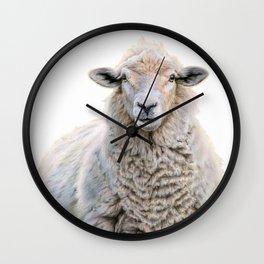 Mona Fleece-a Wall Clock
