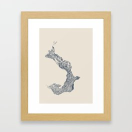 'Inheritance' (3 of 6). Original ink drawings re-coloured in Photoshop. (Other colourways available) Framed Art Print