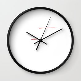 Not Random You Just Can't Think as Fast as Me T-Shirt Wall Clock