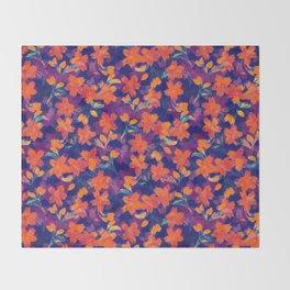 Japanese Garden: Blossoms Dk Throw Blanket