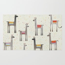 Llamas in the Meadow Rug