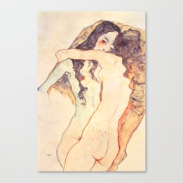 "Egon Schiele ""Two women embracing"" Canvas Print"