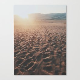Footprints In The Desert Canvas Print