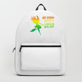 (tshirt) Not Every Witch Lives In Salem (horizontal rainbow) Backpack