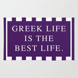 Greek Life Is The Best Life-Purple/White Vertical   Sorority Life Rug