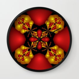 Ruby In Gold Wall Clock