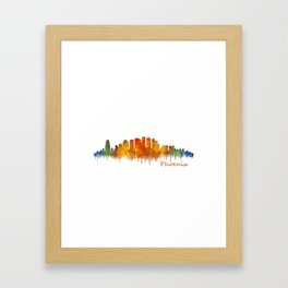 Phoenix Arizona, City Skyline Cityscape Hq v2 Framed Art Print