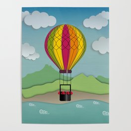 Balloon Aeronautics Sea & Sky Poster