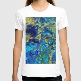 Ocean Jewel Abstract T-shirt