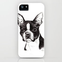 Boston Terrier Portrait iPhone Case