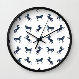 Where the blue horses run Wall Clock