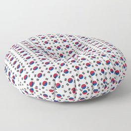 flag of south korea-korea,asia, 서울특별시,부산광역시, 한국,seoul Floor Pillow