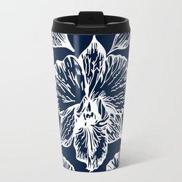 Orchid Cyanotype Travel Mug
