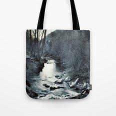 Silver river. Retro Tote Bag