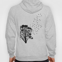 Tree and Birds Silhouette Hoody