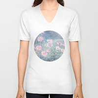 daisies V-neck T-shirts featuring Magical Daisies by Pati Designs