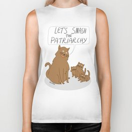 Let's Smash The Patriarchy Kittens Biker Tank