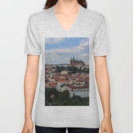 Prague CityScape Unisex V-Neck