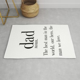 Dad Definition Print, Father's Day Gift, Funny Dad Gift, Wall Art, Digital Print, Instant Download, Rug