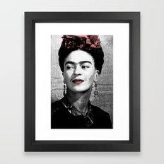 Frida Bitmap Framed Art Print