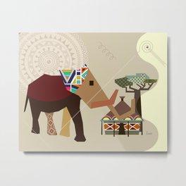African Safari V Metal Print