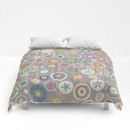 pango mandala pewter Comforters