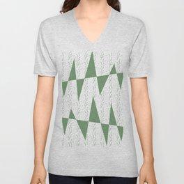 Abstract geometric pattern on white background Unisex V-Neck