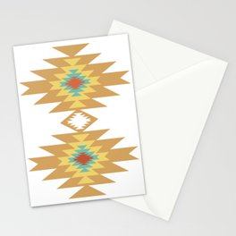 Southwest Santa Fe — Geometric Tribal Indian Abstract Pattern Stationery Cards