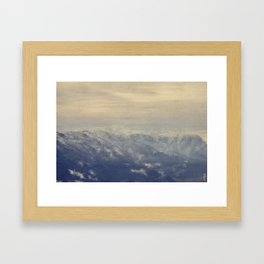 Yet another lake & mountain landscape | 4 Framed Art Print