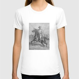 Colonel Theodore Roosevelt On Horseback T-shirt