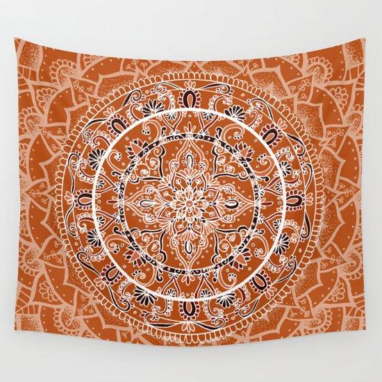 Detailed Burnt Orange Mandala by laurelmae