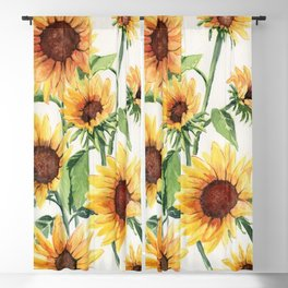 Sunflowers Blackout Curtain