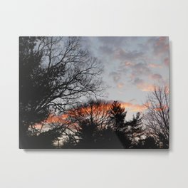red clouds in the sky Metal Print