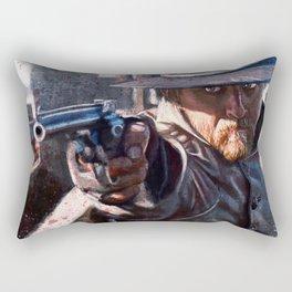 Painting Illustration Of A Cowboy Gunfight Rectangular Pillow