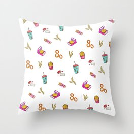 Fast Food Dreamz Throw Pillow