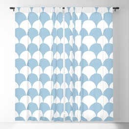 Fan Pattern 321 Pale Blue Blackout Curtain