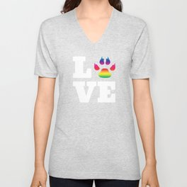 Rainbow paw Unisex V-Neck