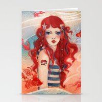 pirate Stationery Cards featuring Pirate by Minasmoke