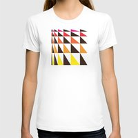yellow pattern T-shirts featuring Red Yellow Triangle Pattern by Gary Andrew Clarke