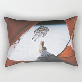 Camping in space Rectangular Pillow