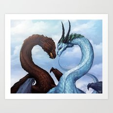 Dragon Love Art Print