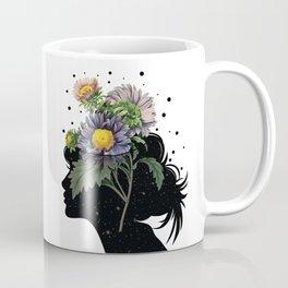 Flower pot head galaxy Coffee Mug